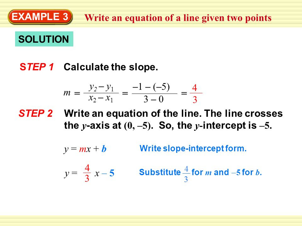 Writing Equations Of Lines Given The Graph Worksheet Answers  Tessshebaylo