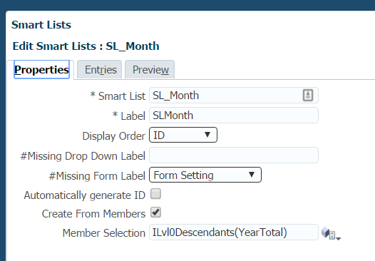 Hierarchy-driven Smart Lists and using them in Calc scripts ~ Oracle - Hyperion Labs