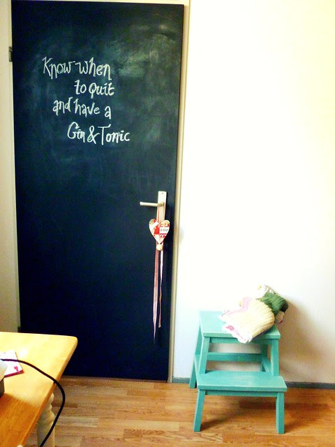 Blackboard door