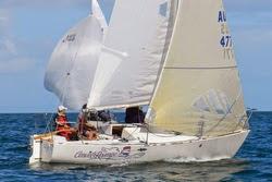 J/24s sailing Australian Victoria States regatta