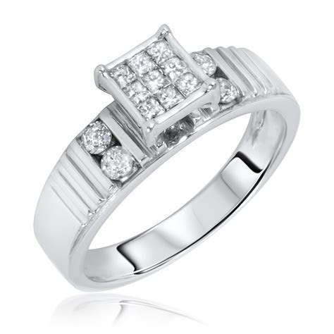1 1 2 Carat T.W. Diamond Women s Engagement Ring 14K White