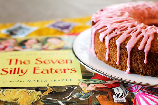 Seven Silly Eaters Cake Recipe (Dairy-Free) with Pink Lemonade Icing