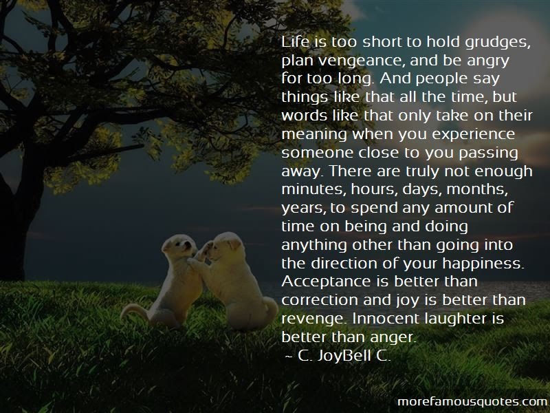Quotes About Life Is Too Short To Hold Grudges Top 3 Life Is Too
