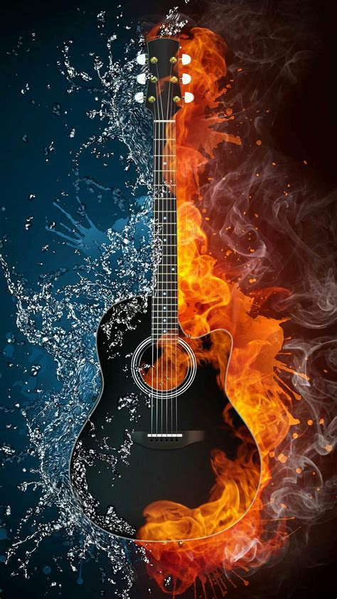 guitar  fire iphone wallpaper iphone wallpapers