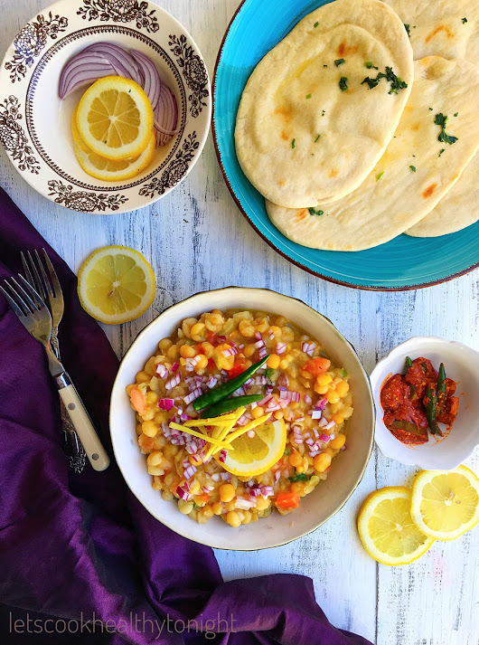 Delhi Style Chole Kulchey - Lets Cook Healthy Tonight