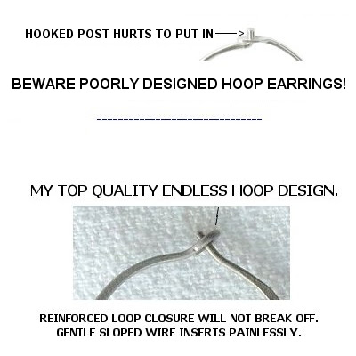 Niobium Titanium Wire Hoop Earrings At Wear Earrings Again With