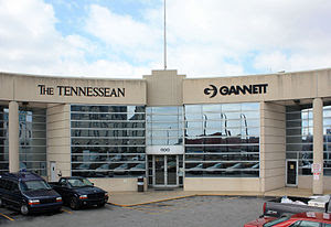 English: Office of The Tennessean newspaper in...