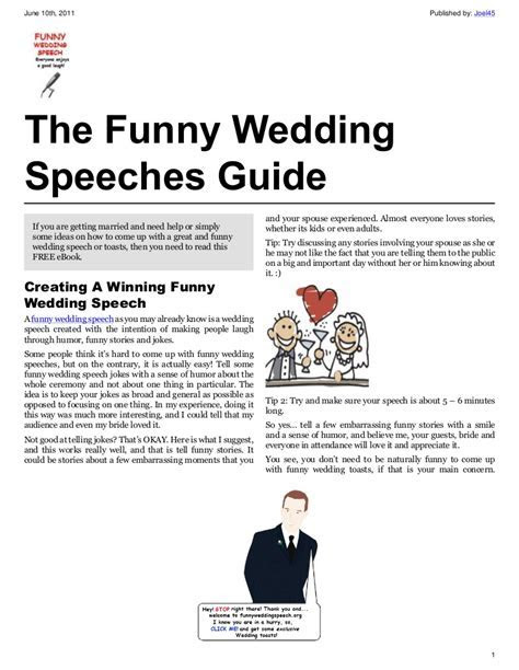 Funny Wedding Speeches Guide