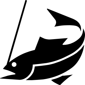 A fishing icon.