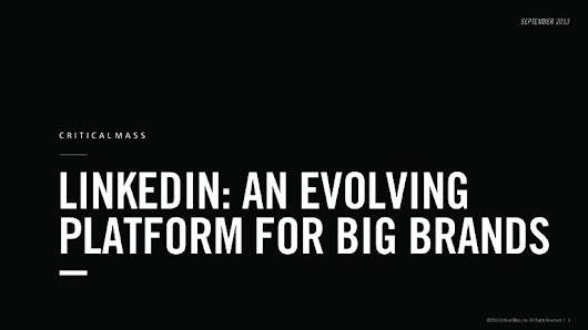 LinkedIn:  An Evolving Platform for Big Brands