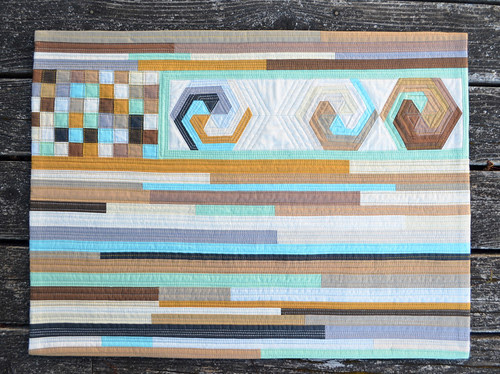 For the Love of Solids [a modern swap] - wall quilt - complete.