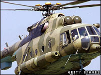 Pakistani military helicopter