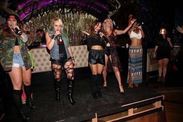 Vanessa Hudgens performs with YLA at Bootsy Bellows in Los Angeles on September 24, 2013.