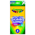 Crayola Washable Fine Line Markers, Classic Colors - 8 Count