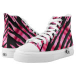 Hot Pink Zebra Animal Stripe Patterns Printed Shoes