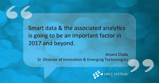 Smart Data & the Associated Analytics | HPCC Systems