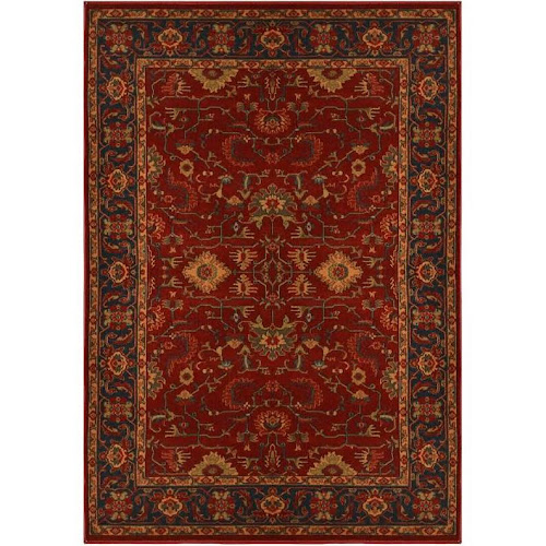 Home Dynamix Area Rugs Antiqua Rug 4765 217 Red Navy Blue