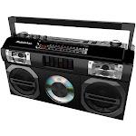 Studebaker - Master Blaster CD-RW/CD-R/CD-DA Boombox with AM/FM Radio - Black