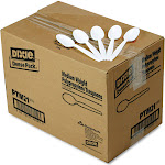 Dixie - Tea spoon - 5.75 in - disposable - white (pack of 1000)