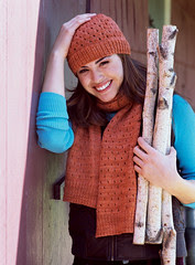 Eyelet Scarf and Hat