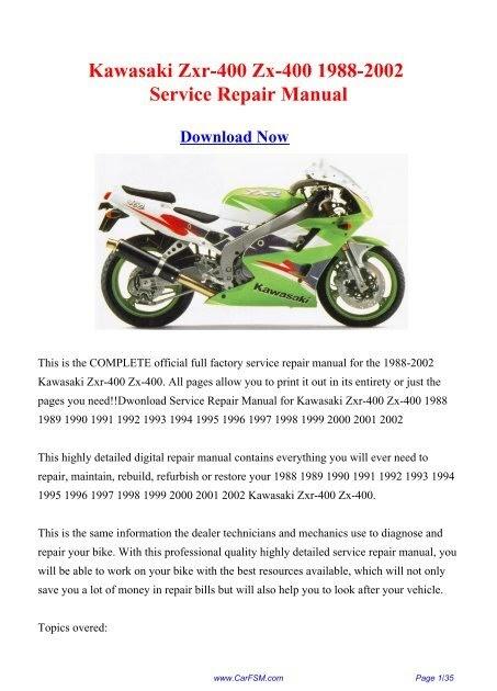 1998 Kawasaki Vulcan 1500 Service Manual