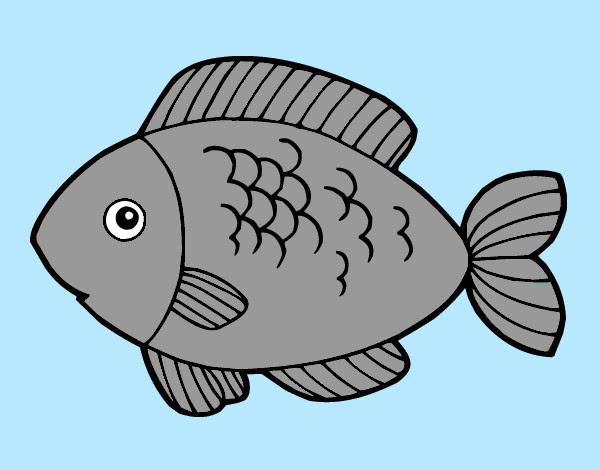 Dibujo De Pescado Pintado Por Karen23259 En Dibujosnet El Día 15 12