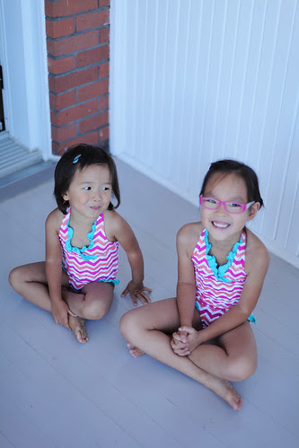pre swimming lessons excitement!