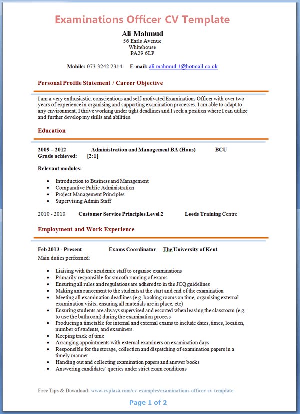 Sample Of Hobbies And Interests On A Resume