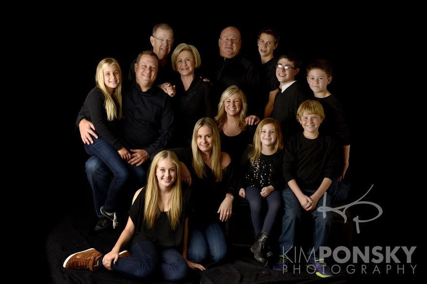 Cleveland Family Photography Studio Cleveland Black Backdrop