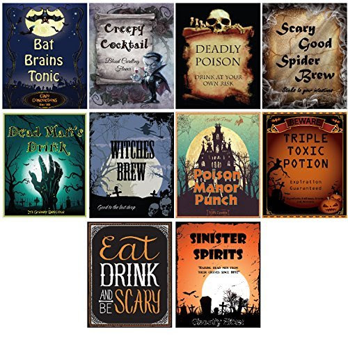 20 Spooktacular Halloween Bottle Labels