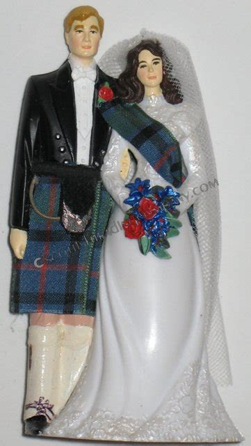 Irish Tartans Wedding Cake Topper [irhcaktp]   $39.99