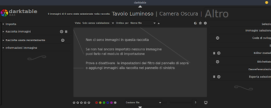 open source darktable software per migliorare foto