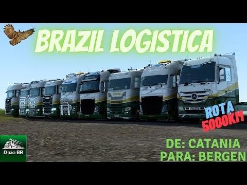((🔴)) AOVIVO -  CANAL DITÃO BR: Domingão na rodagem   Euro Truck Simulator 2   Rota 5000