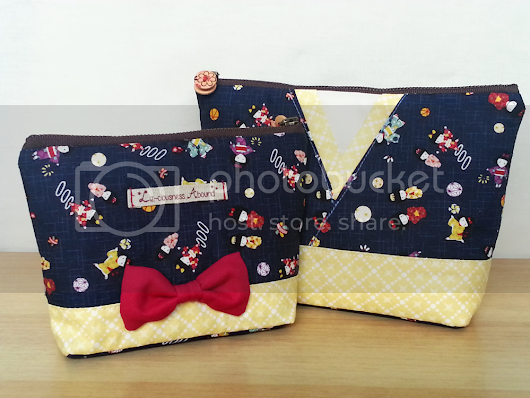 Handmade Pouch Sets for Etsy Shop