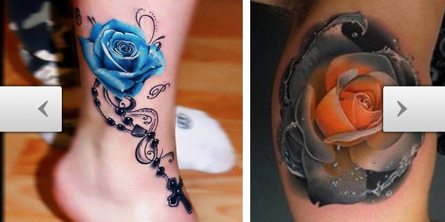 Tattooscom Colorful Rose Tattoo Inspiration