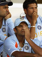 Dravid, Tendulkar, and Sehwag when India lost