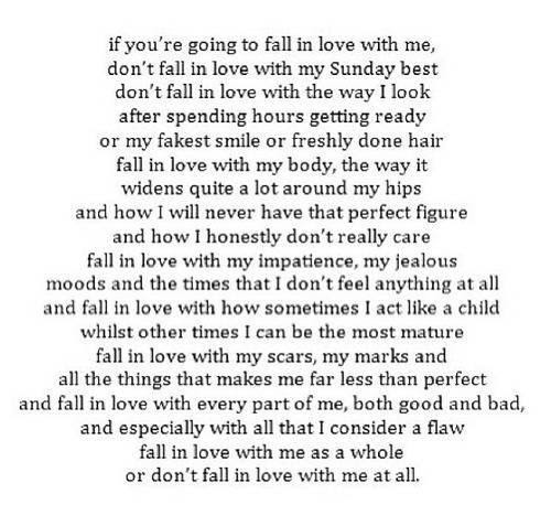 Fall In Love With The Real Me