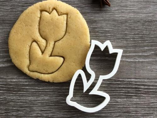 Tulip Cookie Cutter 01fondant Cake Decoratinguk Seller