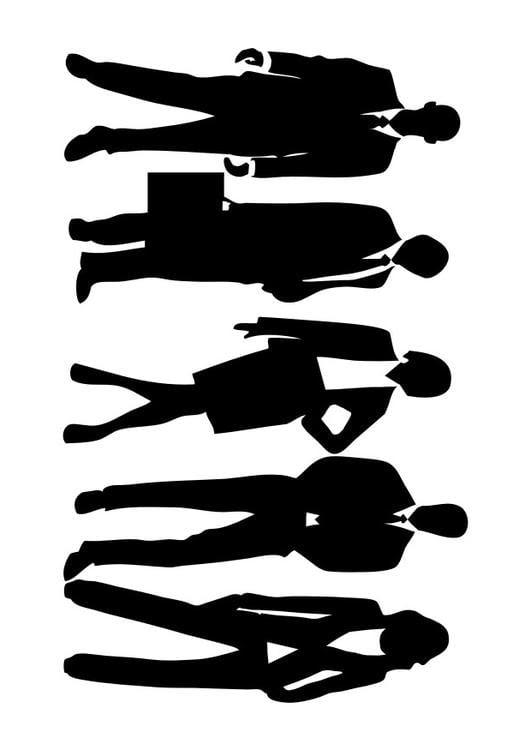 Dibujo Para Colorear Hombres Y Mujeres Con Traje Img 29491