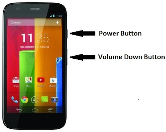How to Take Screenshot on Moto G & Moto E Without using Apps