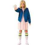 Halloween Stranger Things Eleven's Blue Jacket Adult, Women's, Size: One Size