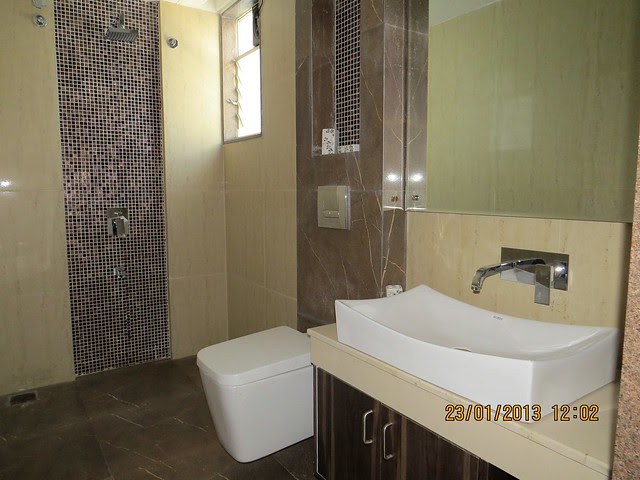 "9'10"" x 5' Toilet of Master Bedroom - 3 BHK Bungalows at Green City Handewadi Road Hadapsar Pune 411028"