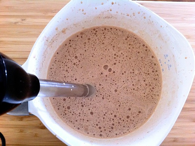 Frothing Hot Chocolate with Immersion Blender