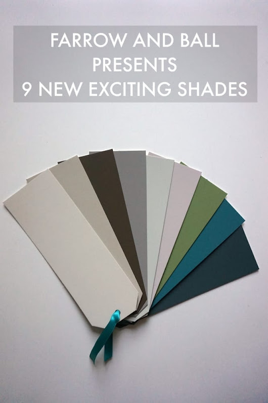 Farrow and Ball Launches 9 Exciting New Colours - Love Chic Living