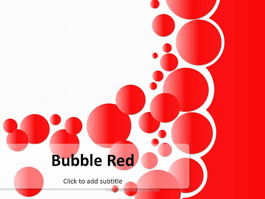 Free Bubble Red PowerPoint Template