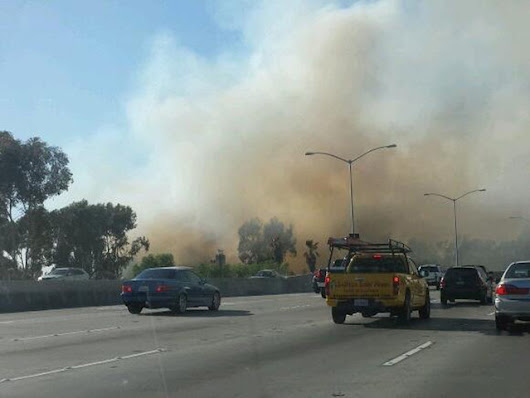 Fire shuts down part of SB 805