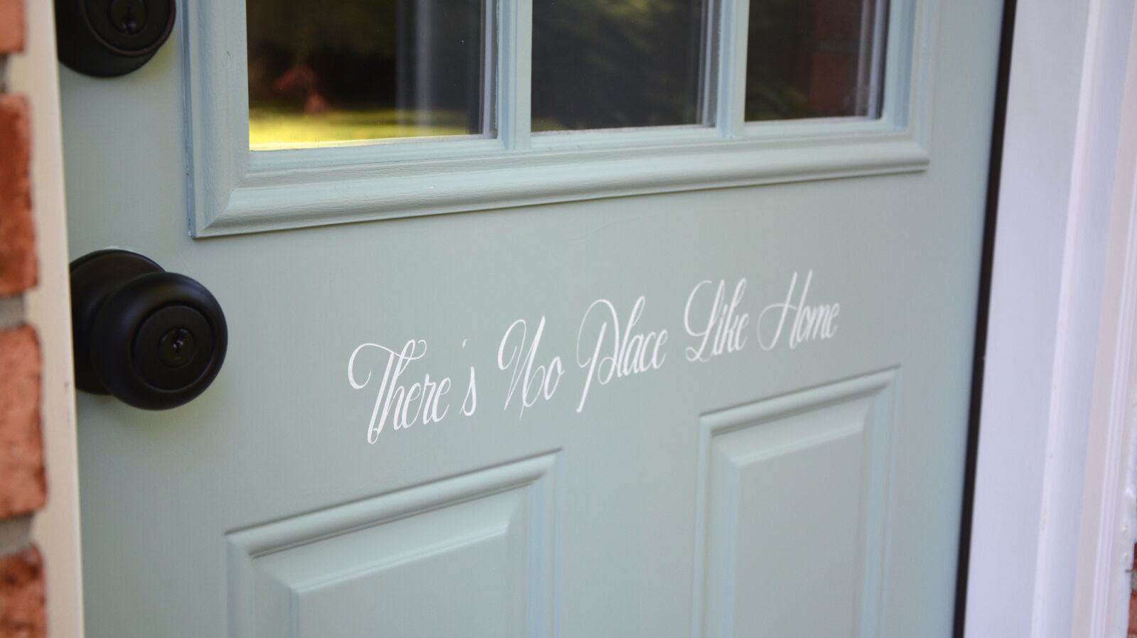 How to Paint and Stencil a Door - AFTER - Stenciled Door