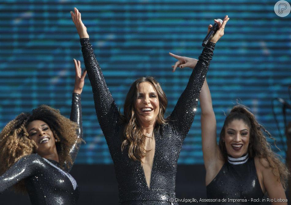 Ivete Sangalo se apresentou em Lisboa na tarde deste sábado, 30 de junho de 2018