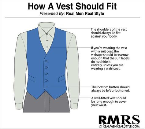 properly wear  waistcoat guide  good vest fit