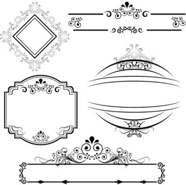 Black White Line Borders Free Vector Download 23784 Free Vector